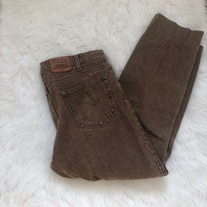 Vintage Levi's 540 burnt brown jeans